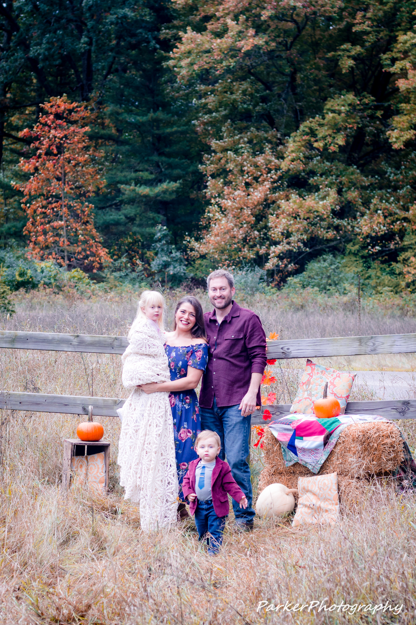 A Beautiful Fall Setting – The White Family